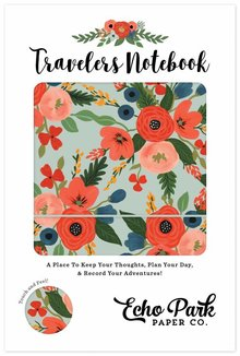 Echo Park Travelers Notebook Mint Floral (TN1008)