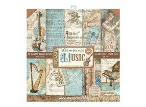 Stamperia Music 12x12 Inch Paper Pack (SBBL48)