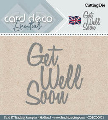 Card Deco Snijmal Get Well Soon (CDECD0001)