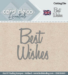 Card Deco Snijmal Best Wishes (CDECD0005)