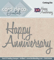 Card Deco Snijmal Happy Anniversary (CDECD0006)