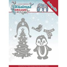 Yvonne Creations Christmas Dreams Christmas Penguin Cutting Die (YCD10144)