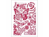 Stamperia Masking Stencil A4 Butterflies & Mechanisms (KSG421)
