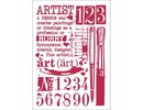 Stamperia Masking Stencil A4 Artist (KSG423)