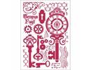 Stamperia Masking Stencil A4 Keys & Locks (KSG424)