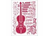 Stamperia Masking Stencil A4 Violin (KSG425)