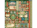 Graphic 45 Christmas Magic 12x12 Inch Cardstock Stickers (4501740)