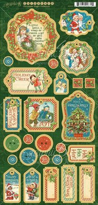 Graphic 45 Christmas Magic Chipboard (4501737)