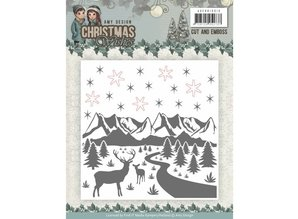 Amy Design Christmas Wishes Cut & Embossing Folder (ADEMB10010)