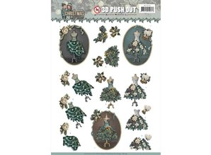 Amy Design 3D Push Out Christmas Wishes Well Dressed (SB10293)