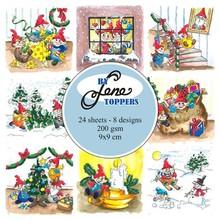 By Lene Toppers 9x9cm Elves & Gnomes (BLT009)