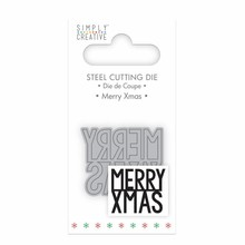 Simply Creative Merry Christmas Die (SCDIE051X18) OP=OP!