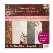 Craft Smith Cinnamon Clove 12x12 Inch Paper Pad (MSE3175)