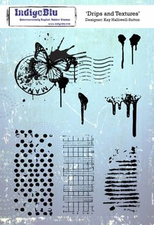 IndigoBlu Drips and Textures A5 Rubber Stamp (IND0447)