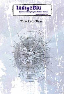 IndigoBlu Cracked Glass A6 Rubber Stamp (IND0450)