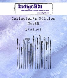 IndigoBlu Collectors Edition 18 Rubber Stamp - Brushes (IND0453)