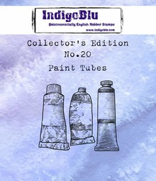 IndigoBlu Collectors Edition 20 Rubber Stamp - Paint Tubes (IND0455)