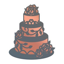 Couture Creations Lavish Ballroom Wedding Cake Cut, Foil & Emboss Die (CO725905)
