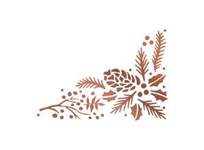 Couture Creations Hot Foil Stamp Highland Christmas Pinecone Corner (CO726305)