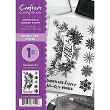 Crafter's Companion Snowflake Kisses Unmounted Rubber Stamp Set (CC-ST-SNKI)