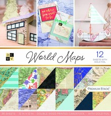 DCWV World Maps 12x12 Inch Premium Stack (PS-002-00023)