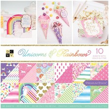 DCWV Unicorns & Rainbows 12x12 Inch Premium Stack (PS-005-00634)