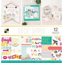 DCWV Diecut Shapes 12x12 Inch Premium Stack (614318)