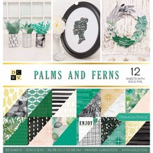 DCWV Palms and Ferns 12x12 Inch Premium Stack (614337)
