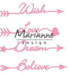 Marianne Design Collectable Arrow Sentiments (COL1458)