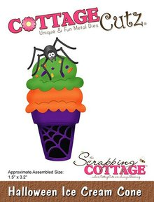 Scrapping Cottage CottageCutz Halloween Ice Cream Cone (CC-530)