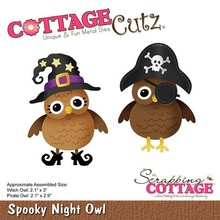 Scrapping Cottage CottageCutz Spooky Night Owl (CC-531)