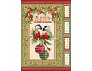 Stamperia Rice Paper A4 Christmas Vintage Birds & Shperes (DFSA4340)