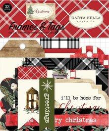 Carta Bella Christmas Ephemera Frames & Tags (CBCH89025)