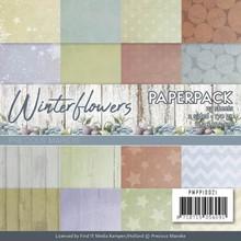 Precious Marieke Winter Flowers 6x6 Inch Paper Pack (PMPP10021)