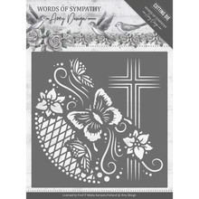 Amy Design Words of Sympathy Cross Frame Die (ADD10154)