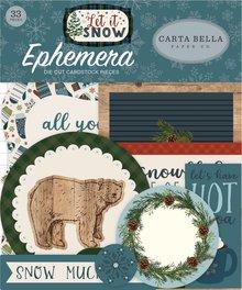 Carta Bella Let It Snow Ephemera (CBIS92024)
