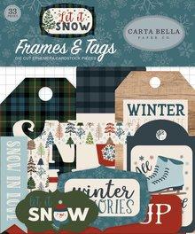 Carta Bella Let It Snow Ephemera Frames & Tags (CBIS92025)