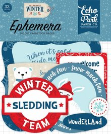 Echo Park Celebrate Winter Ephemera (CW162024)
