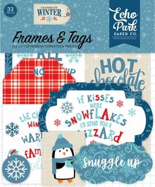 Echo Park Celebrate Winter Ephemera Frames & Tags (CW162025)