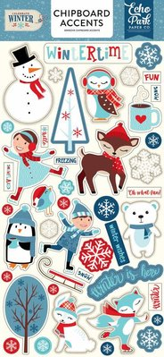 Echo Park Celebrate Winter 6x13 Inch Chipboard Accents (CW162021)