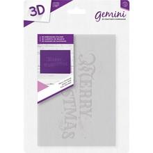 Gemini Merry Christmas 3D Embossing Folder (EM-EF5-3D-MC)