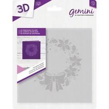 Gemini Poinsettia Wreath 3D Embossing Folder (EM-EF5-3D-PW)