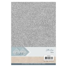 Card Deco A4 Glitter Paper Silver (CDEGP014)