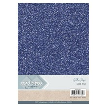 Card Deco A4 Glitter Paper Dark Blue (CDEGP013)