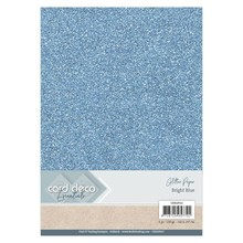 Card Deco A4 Glitter Paper Bright Blue (CDEGP012)