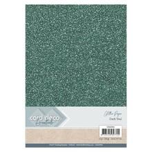 Card Deco A4 Glitter Paper Dark Teal (CDEGP004)