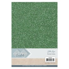 Card Deco A4 Glitter Paper Forest Green (CDEGP005)