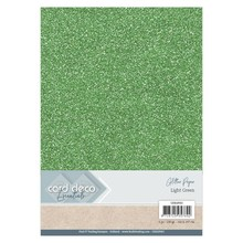 Card Deco A4 Glitter Paper Light Green (CDEGP002)