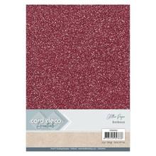 Card Deco A4 Glitter Paper Bordeaux (CDEGP016)
