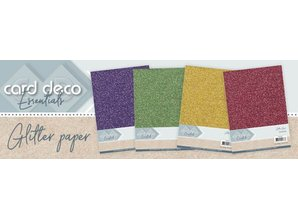 Card Deco A4 Glitter Paper Christmas Red (CDEGP019)